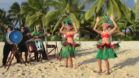 Polynesian Pacific Island Tahitian dance and music group Stock Photo
