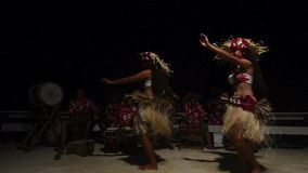 Polynesian Pacific Island Tahitian female dancers Stock Photos