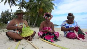 Polynesian Pacific Island Tahitian mature females artwork Stock Photography