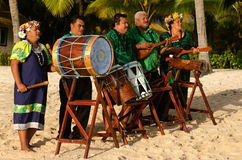 Polynesian Pacific Island Tahitian Music Group Stock Photos