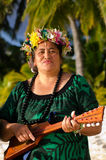 Polynesian Pacific Island Tahitian Music Royalty Free Stock Photography