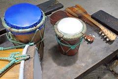 Polynesian Rarotonga för musikinstrument kock Islands Royaltyfria Bilder