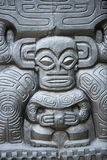 Polynesian stone statue royalty free stock photography