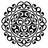 Polynesian tattoo design. Ancient Polynesian native ornament. Isolated on white, vector illustration Royalty Free Stock Photos