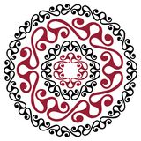Polynesian tattoo design. Ancient Polynesian native ornament. Isolated on white, vector illustration Royalty Free Stock Photography