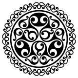Polynesian tattoo design. Ancient Polynesian native ornament. Isolated on white, vector illustration Stock Image