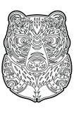 polynesian tiki totem vector idol mask coloring page stock vector