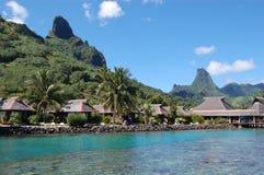 Polynesian village. By the sea Royalty Free Stock Photos