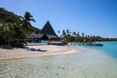 Polynesian village - Moorea. A wonderful polynesian village in Moorea Stock Photos