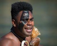 Polynesian warrior portrait Stock Photography