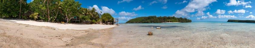 Polynesien paradis Crystal Water Landscape royaltyfri bild