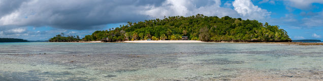 Polynesien paradis Crystal Water Landscape arkivfoto