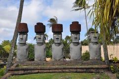Polynesisch Cultureel Centrum in Oahu, Hawaï Stock Afbeeldingen