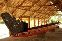 Polynesische kano stock foto