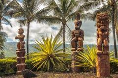 Polynesische Tiki stock foto's