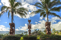 Polynesische Tiki royalty-vrije stock afbeeldingen