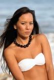Polynesische Vrouw Stock Afbeelding