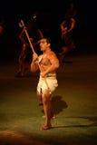 Polynesischer Krieger stockfoto