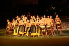 Polynesischer Krieger und Tänzer lizenzfreie stockbilder