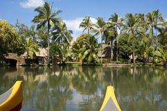 Polynesisches Dorf Lizenzfreie Stockfotos