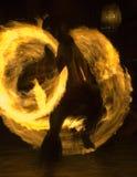 Polynesisches Firedancer Stockfotos