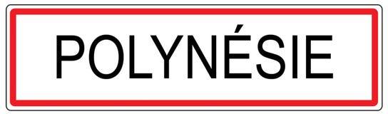 Polynessia-Stadt-Verkehrszeichenillustration in Frankreich Lizenzfreie Stockbilder
