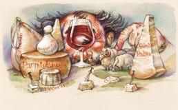 polyphemus сыра Стоковое Изображение