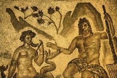 Polyphemus en Galatea-mozaïek, Cordoba, Spanje royalty-vrije stock fotografie