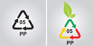 Polypropylen recycling code Royalty Free Stock Images