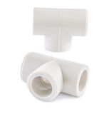 Polypropylene fittings isolated Stock Photos