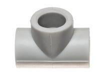 Polypropylene (PVC) dopasowania na białym tle Fotografia Royalty Free
