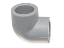 Polypropylene (PVC) dopasowania na białym tle Obrazy Stock
