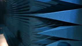 Polypropylene pyramids  acoustic chamber - sound laboratories, extinguish any noise from the outside, anechoic and reverbera