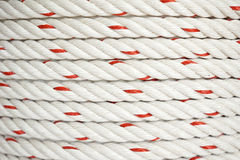 Polypropylene rope. Texture of coil of polypropylene rope Stock Image
