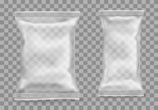 Polypropylenpaket auf transparentem Hintergrund stock abbildung