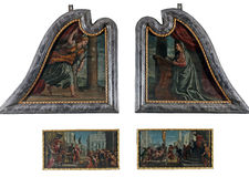 The polyptych of St. Lawrence. Paolo Veronese: The polyptych of St. Lawrence exhibited at the Great Masters Renaissance in Croatia, opened December 12, 2011. in Royalty Free Stock Photo
