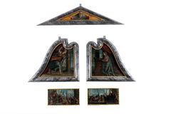 The polyptych of St. Lawrence. Paolo Veronese: The polyptych of St. Lawrence exhibited at the Great Masters Renaissance in Croatia, opened December 12, 2011. in Royalty Free Stock Photos