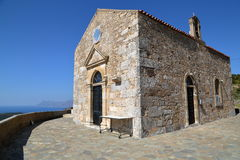 POLYRINIA, CRETE: The church of the ancient Hellenic city of Polyrinia near Kastelli-Kissamos in the western part of Crete Stock Photography