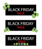 Polyscias Leaves on Black Friday Sale Banner Royalty Free Stock Photography
