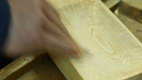 Polyshing drewniana deska zdjęcie wideo