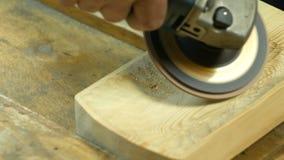 Polyshing drewniana deska elektrycznym narzędziem zbiory