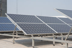Polysilicon board. Small-scale solar power generation equipment on the roof Stock Photography