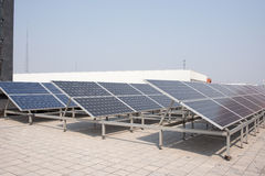 Polysilicon board. Small-scale solar power generation equipment on the roof Stock Images