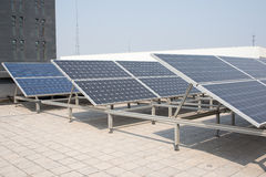 Polysilicon board. Solar panel on the roof. Power Industry Stock Photography