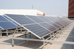 Polysilicon board. Solar panel on the roof. Power Industry Stock Photos