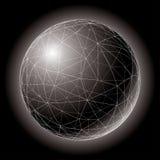 Polysphere nero Immagini Stock