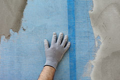 Polystyreenisolatie van muur Stock Foto