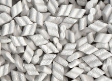 Polystyrene. Expanded polystyrene beads for packaging background Royalty Free Stock Image