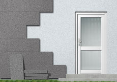 Polystyrene facade insulation royalty free illustration