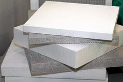 Polystyrene foam. For thermal insulation and waterproofing Stock Images